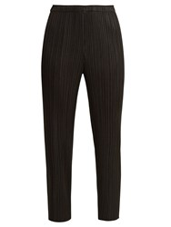 Issey Miyake Straight Leg Pleated Trousers Black