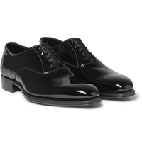 Kingsman George Cleverley Patent Leather Oxford Shoes Black
