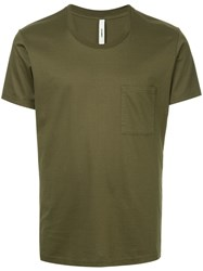 Attachment Chest Pocket T Shirt Green