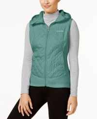 Columbia Warmer Days Hooded Fleece Vest Cloudburst