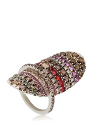 Fabrizio Riva Natural White Gold Ring With Diamonds