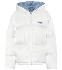 Prada Gabardine Down Jacket White