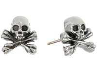 King Baby Studio Skull And Crossbones Post Earrings Silver Earring
