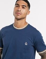 Original Penguin T Shirt With Small Logo In Navy