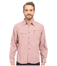 Mountain Khakis Trail Creek Long Sleeve Shirt Summer Red Plaid Men's Clothing Pink