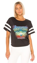 Daydreamer Journey In Concert Football Tee In Black. Ash