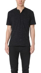 The Kooples Short Sleeve Polo Shirt Blue Black