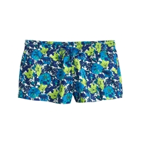 J.Crew Retro Floral Board Short Blue Neon Lime