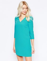 See U Soon V Neck Shift Dress With Pockets Green