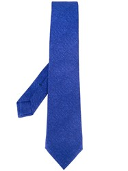 Kiton Plain Tie Men Silk One Size Blue