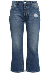 Each X Other Distressed Mid Rise Kick Flare Jeans Mid Denim