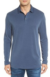 Tommy Bahama Men's 'New Ocean View' Long Sleeve Polo Maritime