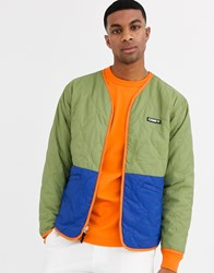 Obey Nonsense Liner Jacket In Green