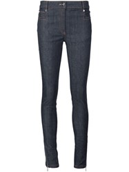 Thierry Mugler Zipped Ankle Skinny Jeans Blue