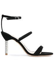 Sophia Webster Rosalind Crystal Sandals Black