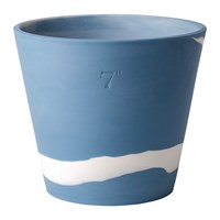 Wedgwood Burlington Pot White On Pale Blue