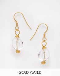 Mirabelle Crystal Drop Gold Plated Earrings Gold