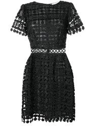 Michael Michael Kors Geometric Floral Lace Dress Black