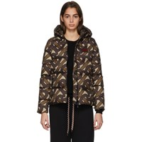 Burberry Brown Monogram Puffer Down Leith Jacket