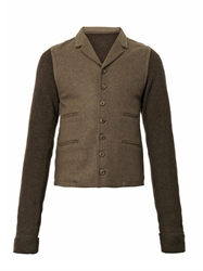 Christophe Lemaire Knitted Panel Blazer