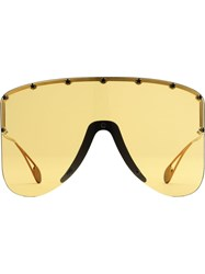 Gucci Eyewear Mask Sunglasses Yellow