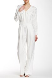 Shades Of Grey Pleated Wrap Jumpsuit White