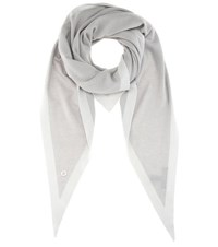Loro Piana Summer Twice Cashmere And Silk Scarf Grey