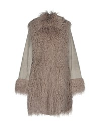 Freaky Nation Coats And Jackets Faux Furs Grey