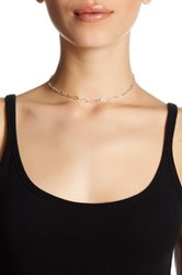 Dogeared Sterling Silver Top Layer Diamond Chain Choker Metallic