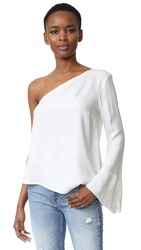 Bec And Bridge Lunetta Asymmetrical Top Ivory