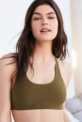 Out From Under Rocky Micro Racerback Bra Dark Green