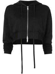 Unravel Project Triacetate Cropped Hoodie Women Cotton Polyamide Xs Black