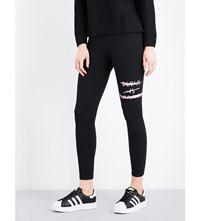 Chocoolate Logo Print Jersey Leggings Black