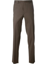Fashion Clinic Slim Tailored Trousers Brown