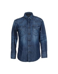 Htc Denim Denim Shirts Men Blue