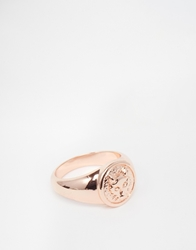 Asos Pinky Ring With Fox Rosegold