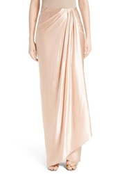 Marchesa Women's Grecian Draped Satin Georgette Wrap Skirt