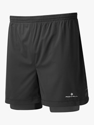 Ronhill Stride Twin 5 Running Shorts All Black