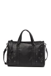 Vince Camuto Avie Small Grommet Leather Satchel Noir 01