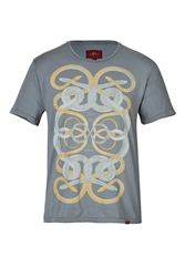 7 For All Mankind Cotton Snake Print T Shirt
