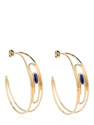 Aurelie Bidermann Angelica Lapis Hoop Earrings