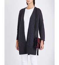 Rag And Bone Dee Wool Cardigan Charcoal