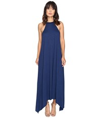 Lanston High Low Halter Midi Dress Ocean Women's Dress Blue