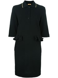 Peter Jensen Pique Polo Dress Black