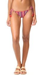 Heidi Klum Catalina Kisses Tie Side Bikini Bottoms Retro Tribal Print
