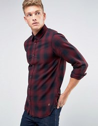 Jack And Jones Checked Shirt In Slim Fit Port Royal Red