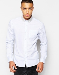 Solid Solid Shirt With Flannel Button Down Collar Skyblue