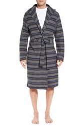 Uggr Men's Ugg 'Miles' Stripe Cotton Robe