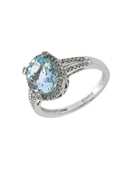Effy 14 Kt. White Gold And Diamond Ring Aqua White Gold