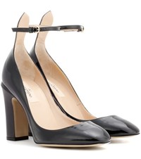 Valentino Tan Go Patent Leather Pumps Black